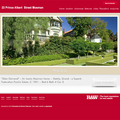 Individual Property Website