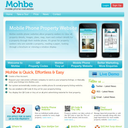 Mohbe – Mobile Phone Real Estate